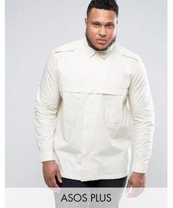 Asos | Рубашка Классического Кроя В Стиле Сафари Plus