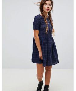 Asos | Свободное Платье Мини С Вышивкой Ришелье