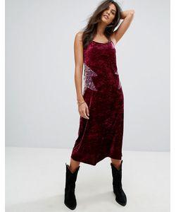 Anna Sui | Бархатное Платье-Комбинация Миди