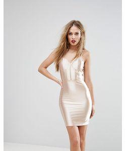 NaaNaa | Блестящее Облегающее Платье С Корсетной Отделкой