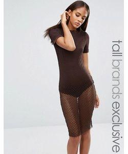 NaaNaa Tall | Сетчатое Облегающее Платье