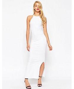 Asos | Платье Макси В Стиле 90Х С Высокой Горловиной