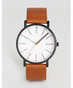Skagen | Часы С Коричневым Кожаным Ремешком Skw6374