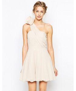 TFNC | Платье Для Выпускного На Одно Плечо С Цветком