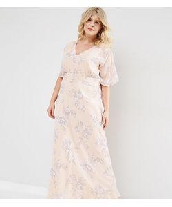 ASOS CURVE | Платье Макси С Розами Wedding