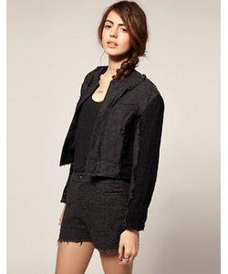 Blaak   Укороченная Куртка С Шерстяными Вставками Для