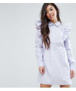 Fashion Union Petite   Платье-Рубашка С Оборками На Плечах