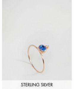 Asos | Серебряное Позолоченное Кольцо С Камнем Для Родившихся В Сентябре