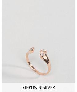 Asos | Кольцо Из Позолоченного Серебра С Камнем
