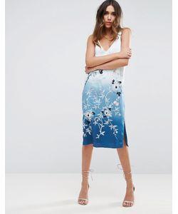 Asos | Платье-Комбинация С Вышивкой И Эффектом Деграде Premium