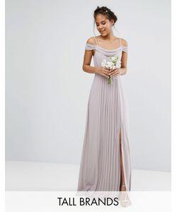 TFNC Tall | Платье Макси С Открытыми Плечами И Отделкой Wedding