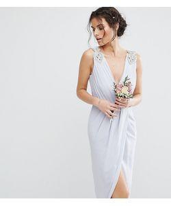 TFNC | Платье Миди С Запахом И Декоративной Отделкой Wedding