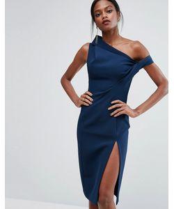 AQ AQ | Структурированное Платье С Открытыми Плечами Aq/Aq