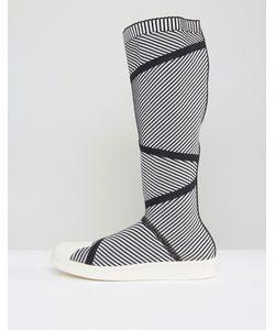 Adidas | Высокие Кроссовки Из Премиум-Трикотажа В Стиле 80-Х Originals Superstar