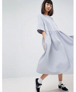 ASOS WHITE   Oversize-Платье Из Вафельного Трикотажа