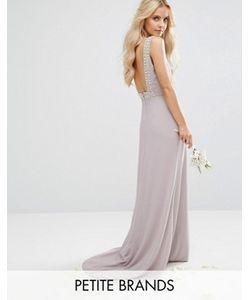TFNC Petite | Платье Макси С Открытой Спиной И Отделкой Wedding