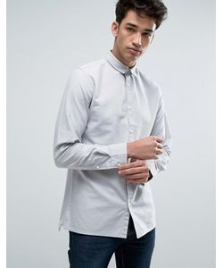 Jack & Jones | Узкая Хлопковая Оксфордская Рубашка С Длинными Рукавами Core
