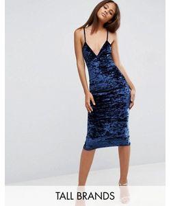Missguided Tall | Бархатное Платье Миди