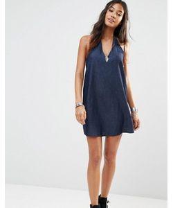 Glamorous | Джинсовое Платье С Лямкой Через Шею