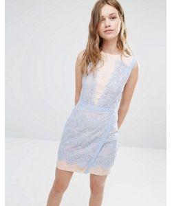 Greylin | Двухцветное Кружевное Платье Lana