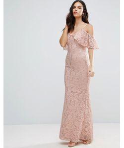 Jessica Wright | Кружевное Платье Макси С Открытыми Плечами