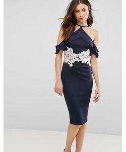AX Paris | Темно Облегающее Платье Миди