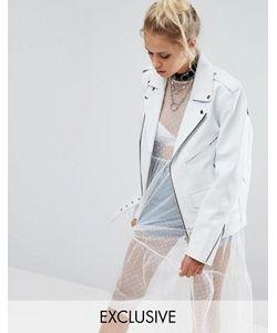 Milk It | Кожаная Байкерская Куртка В Стиле Oversize Vintage
