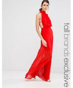 Missguided Tall | Платье Макси С Высокой Горловиной И Открытой Спиной