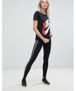 Nike | Леггинсы С Полосатой Вставкой Сбоку