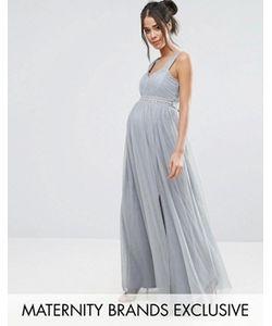 Little Mistress Maternity | Платье Макси С Отделкой На Талии