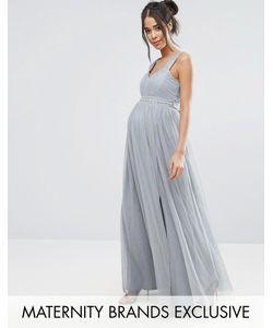 Little Mistress Maternity   Платье Макси С Отделкой На Талии