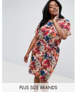 Club L Plus | Платье С Поясом И Цветочным Принтом