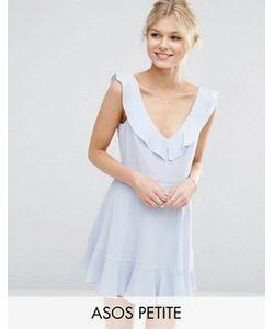 ASOS PETITE | Короткое Приталенное Платье С Оборкой