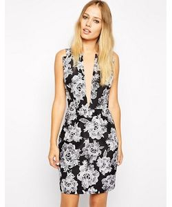Style Stalker | Платье С Принтом И Глубоким Вырезом Stylestalker American Beauty