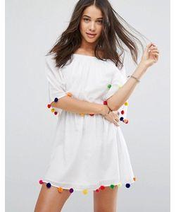 Pitusa | Пляжное Платье С Помпонами