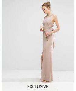 TFNC | Шифоновое Платье Макси С Отделкой В Цвет И Завязкой Wedding