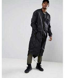 Maharishi   Удлиненная Куртка С Асимметричным Краем Ma1