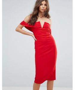 Parisian | Платье-Футляр С Открытыми Плечами