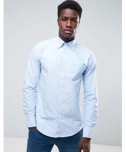 United Colors Of Benetton | Синяя Оксфордская Рубашка Классического Кроя На Пуговицах