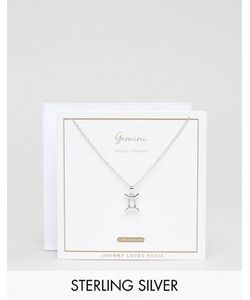 Johnny Loves Rosie | Серебряное Ожерелье Со Знаком Зодиака Близнецы