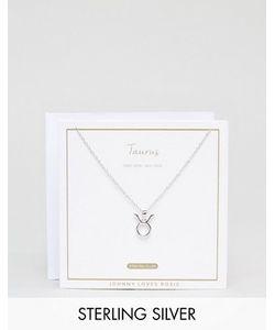 Johnny Loves Rosie | Серебряное Ожерелье Со Знаком Зодиака Телец