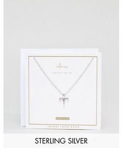 Johnny Loves Rosie | Серебряное Ожерелье Со Знаком Зодиака Овен