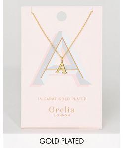 Orelia | Позолоченное Ожерелье С Подвеской В Виде Буквы А
