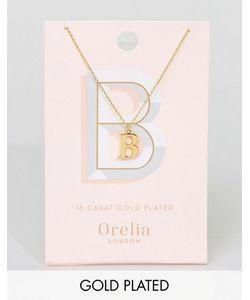 Orelia | Позолоченное Ожерелье С Подвеской В Виде Буквы В