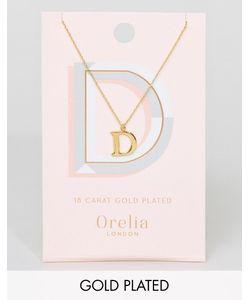 Orelia | Позолоченное Ожерелье С Буквой D