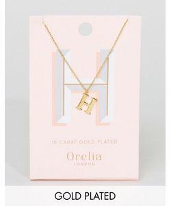 Orelia | Позолоченное Ожерелье С Подвеской В Виде Буквы Н
