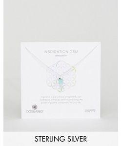 Dogeared | Серебряное Ожерелье С Амазонитом Inspiration Gem