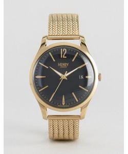 Henry London | Золотистые Часы С Сетчатым Ремешком Westminster
