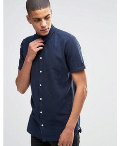 Minimum | Льняная Рубашка Слим С Короткими Рукавами