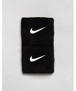Nike Training   2 Черных Напульсника С Логотипом-Галочкой
